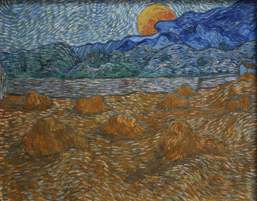 Van Gogh Landscape_with_wheat_sheaves_and_rising_moon