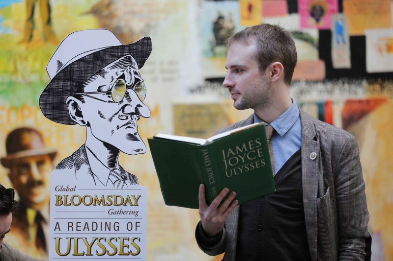 **** NO REPRODUCTION FEE **** 16/05/2013 : DUBLIN : Pictured was Mark Traynor , General Manager of Dublin James Joyce Centre at the launch of globalbloomsday.com This year to celebrate Bloomsday 2013, Sunday 16 June, Dublin's James Joyce Centre will produce a live online global reading of Ulysses. A stellar line up confirmed to read for Dublin so far includes writers Joseph O' Connor, Kevin Barry, John Boyne, Declan Hughes and actor Frank Kelly. The Dublin leg of the global readings will be broadcast live from the National Library. Following the sun, the 25 worldwide cities taking part in the global readings are Auckland, Melbourne, Sydney, Tokyo, Beijing, Shanghai, Singapore, Moscow, Pula, Zurich, Trieste, Paris, Bangor, Dublin, Derry, Cork, London, Sao Paulo, Santa Maria, New York, Boston, Chicago, Ottawa, Montreal, Toronto, and San Francisco. Global Readings of Ulysses start at 2100 GMT Saturday 15 June and are scheduled to finish after midnight GMT on Bloomsday. All the worldwide readings will be accessed live for free to one and all locally and globally at globalbloomsday.com. Picture Conor McCabe Photography. MEDIA CONTACT : Yvonne Thunder. Project Manager, Global Bloomsday Gathering: A Reading of Ulysses Around the World, M + 353 (0) 87 931 4511 E yvonne.thunder@gmail.com