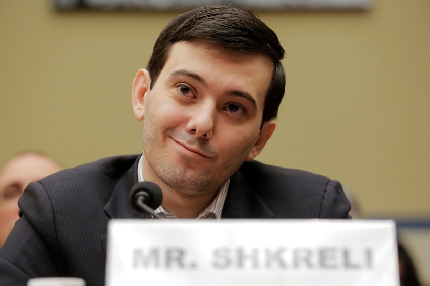 "Martin Shkreli, former CEO of Turing Pharmaceuticals LLC, prepares to testify before a House Oversight and Government Reform hearing on ""Developments in the Prescription Drug Market Oversight"" on Capitol Hill in Washington February 4, 2016. REUTERS/Joshua Roberts"
